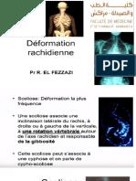 Déformation Rachidienne (Cours Retranscrit)-Pr El Fizzazi