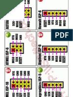 ATMEL AVR ISP pinouts