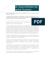 Indice de disponibilidad del Capital Humano