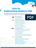 Best practices for implementing Salesforce.com