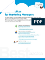 Best practices for Marketing Managers