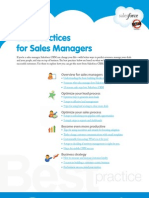 Best practices for Sales Managers