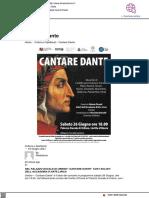 Cantare Dante - Il Mascalzone del 18 giugno 2021