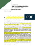 FONSECA JR. - Política Externa Brasileira - Padrões e Descontinuidades No Período Republicano