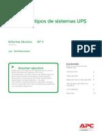 Informe sobre UPS APC y tipos de UPS