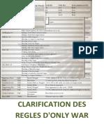 ONLY WAR - CLARIFICATION DES REGLES V2