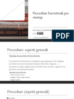 Strategie brevettuali per startup