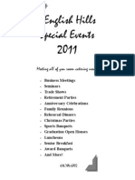 2011 special events menu