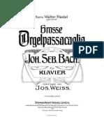 Passacaglia in C minor Bach