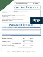 F-HR-036 - Demande d'évolution de carrière - Appl 999914 - Rev0
