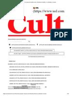 Artigo Publicado - A ficção do real - Revista Cult