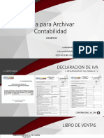 Guía Para Archivar Contabilidad EJEMPLOS
