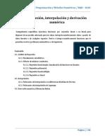 Unidad 4. Regresión, Interpolacion y Derivación Numerica