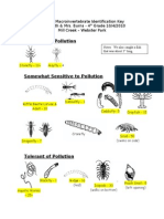 Klem South Macroinvertebrate Data - 2010-2011