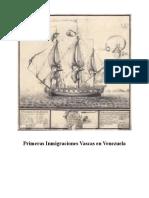 Primeras Inmigraciones Vascas en Venezuela