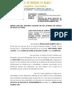 EXPEDIENTE N°02399-2019 - CRUZ MARIA TINEO LAZARO ESCRITO 04- DECLARE REBELDE Y FIJE FECHA Y HORA PARA AUDIENCIA UNICA