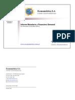 Econométrica S.A - Informe Monetario 15-03-11