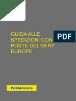 Poste Delivery Europe Guida Spedizioni
