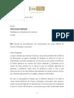 Carta de Gustavo Bolívar a presidente Duque por MinCiencias
