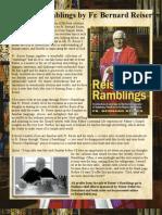 Promo Reiser's Ramblings Book by Fr Bernard Reiser