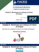 Unidade III_Metodologias para realização de Projetos de Pesquisa TCC