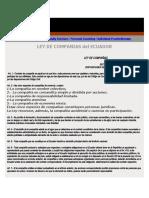 LEY DE COMPAÑIAS DEL ECUADOR