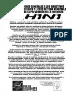 Recomendaciones Directivos/Profesores/Maestros Prevención del A/H1N1
