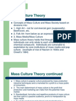 mass culture theory