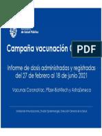 Informe Vacunas COVID-19 Lunes 21