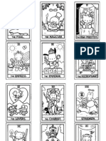 graphic regarding Printable Tarot Cards to Color referred to as Howdy Kitty Tarot 6x13