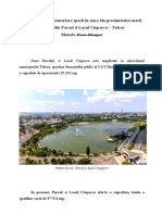 Masuratori de inventariere in Parcul si Lacul Ciuperca
