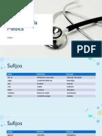 Terminología Medica - Sufijos
