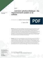 conversion photovoltaîque