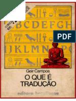 O que é tradução - Geir Campos