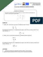 Guia 4 (Segundo Periodo) Division de Numeros Enteros