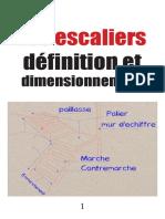 Les escaliers définition et dimensionnement