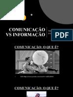 COMUNICAÇÃO VS INFORMAÇÃO 2020 - 1