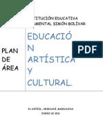 PLAN DE ÁREA EDUCACIÓN ARTÍSTICA
