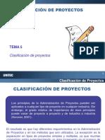 Clasificación de proyecto