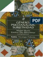 Burin, Mabel & Bleichmar , Emilce Dio - Genero, Psicoanalisis, Subjetividad