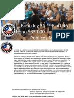 Reglamento BDL, Art. 29, Ley 21.109