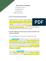 Derecho Penal Económico - 3 Preguntas