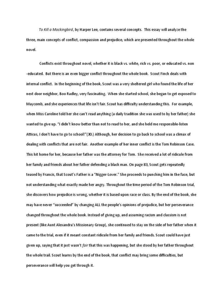 to kill a mocking bird essay essay on prejudice to kill a  to kill a mockingbird essay