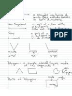 Notes Geometry Vocab