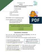 Frases simples e frases complexas, a coordenação (ficha informativa)