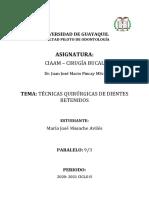 TECNICAS QUIRÚRGICAS DIENTES RETENIDOS