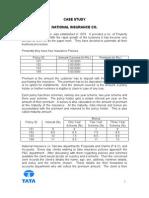 NATIONAL INSURANCE CO - CASE STUDY