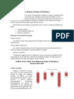 Analisis de la BP de Honduras 2015-2019