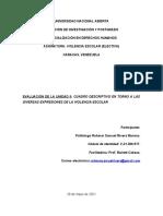 Evaluación II. Violencia Escolar. Politólogo Rohmer Rivera Moreno. Especialización en DDHH. UNA.
