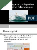Thermoregulatory Adaptations of Terrestrial Polar Mammals